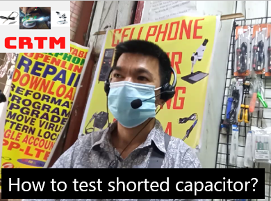 how to test shorted capacitor